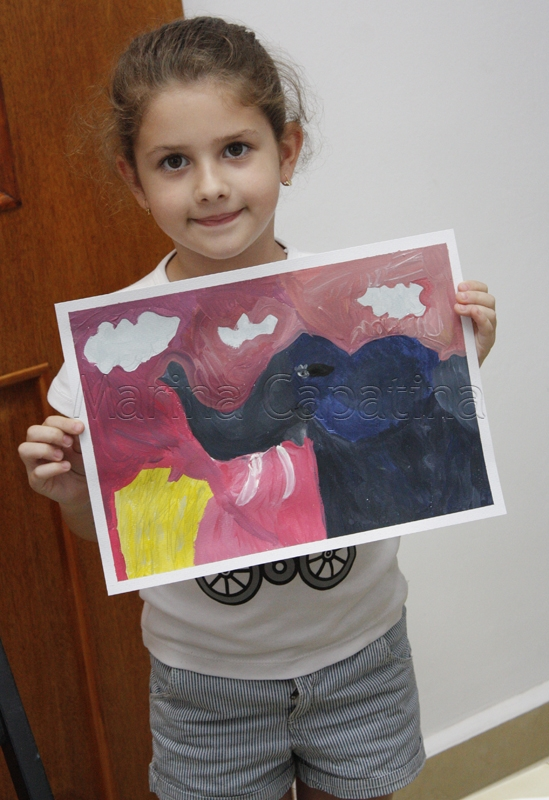 Grup 4-6 ani, Pictura tempera - Elefant, Antonia.