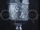 Detaliu pocal din argint