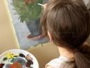 Andrada picteaza Ghiveciul cu flori 130x98 Invatam arta