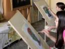 Cursurile de pictura si desen copii natura statica cu flori 130x98 Invatam arta