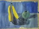 Natura statica cu banane si mar Andreea 130x98 Invatam arta