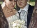 portret nunta ulei panza 130x98 Portret de nunta