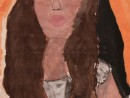 Autoportret Alexia 9 ani 130x98 Meditatii de pictura si desen