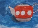Ceainic culori complementare Alexia 9 ani 130x98 Meditatii de pictura si desen