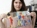 Grup Meditatii Pictura tempera La cumparaturi Liana1 130x98 Meditatii de pictura si desen