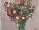 Natura statica cu flori Alexia 9 ani 130x98 Meditatii de pictura si desen