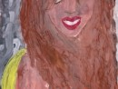 Portret de fata Alexia 9 ani 130x98 Meditatii de pictura si desen