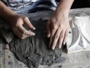 Atelier modelaj grup 10 14 ani Columb creare placa 130x98 Atelier Meditatii modelaj (admitere Tonitza si universitate)