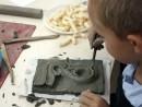 Grup 10 14 ani Modelaj Lut Element Vegetal Razvan 130x98 Atelier modelaj