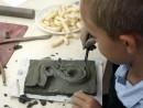Grup 10 14 ani Modelaj Lut Frunza Decorativa Razvan 130x98 Atelier modelaj