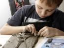 Grup 10 14 ani Modelaj Lut Turnul Eiffel Razvan 130x98 Atelier modelaj