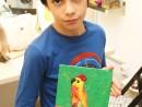 Grup 10 14 ani Modelaj in plastic Papagal Aleksis 130x98 Atelier modelaj