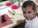 Grup 4 6 ani Modelaj Lut Bufnita Teuta. 130x98 Atelier modelaj