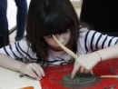 Grup 5 8 ani Modelaj lut Medalion frunze Mali 130x98 Atelier modelaj