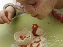 Grup 5 8 ani modelaj ceramica Suport oua Isabela 130x98 Atelier modelaj