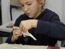 Grup 6 8 ani Modelaj Ceramica Dinozaur Tatiana. 130x98 Atelier modelaj