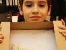 Grup 6 8 ani Modelaj Keraplast Suport lumanare cu fata David 130x98 Atelier modelaj