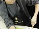 Grup 6 8 ani Modelaj Lut Tablou cu Fructe Teodor. 130x98 Atelier modelaj
