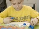 Grup 6 8 ani Modelaj Plastilina Peisaj de munte Vanesa 130x98 Atelier modelaj