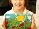 Grup 6 8 ani Modelaj in plastilina Camp cu flori Carina 130x98 Atelier modelaj