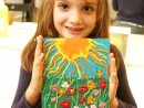 Grup 6 8 ani Modelaj in plastilina Camp cu flori Sonia 130x98 Atelier modelaj
