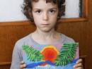 Grup 6 8 ani Modelaj plastilina Plaja palmieri Ioan 130x98 Atelier modelaj