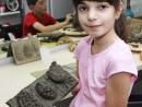 Grup 8 10 ani Modelaj Lut Conuri de brad Sofia 130x98 Atelier modelaj