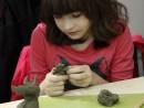 Grup 8 10 ani Modelaj Lut Dinozaur Ilinca. 130x98 Atelier modelaj