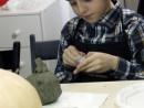 Grup 8 10 ani Modelaj Lut Dovleac Razvan. 130x98 Atelier modelaj
