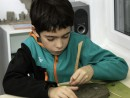Grup 8 10 ani Modelaj Lut Studiu frunza de strugure Aleksis 130x98 Atelier modelaj