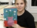 Grup 8 10 ani Modelaj Plastilina Vaza cu flori Ana 130x98 Atelier modelaj
