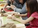 Grup 8 10 ani Modelaj ceramica Suport de oua Alexia 130x98 Atelier modelaj