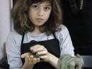 Grup 8 10 ani Modelaj lut Gargouille Sara 130x98 Atelier modelaj