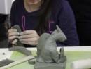 Grup 8 10 ani Modelaj lut Gargouille Viviana 2 130x98 Atelier modelaj