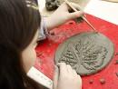 Grup 8 10 ani Modelaj lut Medalion frunza Diana 130x98 Atelier modelaj