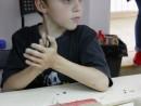 Grup 8 10 ani Modelaj lut Medalion frunza Razvan 130x98 Atelier modelaj