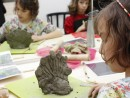 Grup 8 10 ani Modelaj lut Paun Antonia 130x98 Atelier modelaj