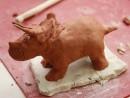 Grup 8 10 ani modelaj ceramica Dinozaur Victor 2 130x98 Atelier modelaj