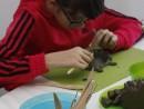 Grup 8 10 ani modelaj lut Arici Fidan 130x98 Atelier modelaj