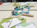 Grup 8 10 ani modelaj plastilina Livada Fidan 130x98 Atelier modelaj