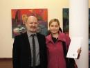 Petru Lucaci si Marina Capatina 130x98 Premiul Pentru Tineret la Salonul Anual de Pictura 2013