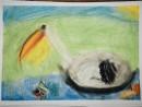 Scoala De Vara Desen Pastel Cretat Pelican Vanessa 130x98 Scoala de Vara, 2015