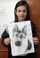 Clasa 10 14 ani Desen Carbune Caine Ilinca. 131x187 Rezultate de exceptie la cursurile de pictura si desen