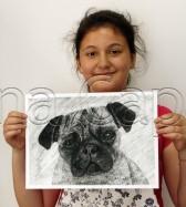 Clasa 10 14 ani Desen Carbune Caine Stefania. 168x187 Rezultate de exceptie la cursurile de pictura si desen
