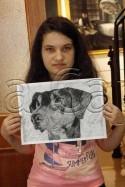 Clasa 10 14 ani Desen Carbune Caine Teodora. 125x187 Rezultate de exceptie la cursurile de pictura si desen
