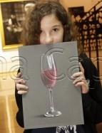 Clasa 10 14 ani Desen Pastel Cretat Pahar cu Lichid Miruna. 143x187 Rezultate de exceptie la cursurile de pictura si desen