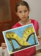 Clasa 10 14 ani Desen Pastel Cretat Pantofi Maria. 137x187 Rezultate de exceptie la cursurile de pictura si desen