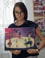 Clasa 10 14 ani Pictura Acrilic Circ Oana. 145x187 Rezultate de exceptie la cursurile de pictura si desen