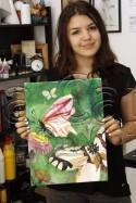 Clasa 10 14 ani Pictura Acrilic Fluturi Alexia. 125x187 Rezultate de exceptie la cursurile de pictura si desen