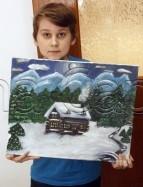 Clasa 10 14 ani Pictura Acrilic Peisaj de Iarna Denis. 143x187 Rezultate de exceptie la cursurile de pictura si desen